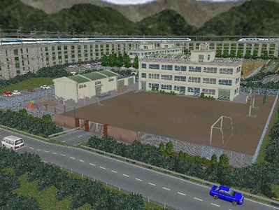 白石駅構内完成形上り方面2小学校1