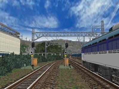白石駅構内上り出発信号機1