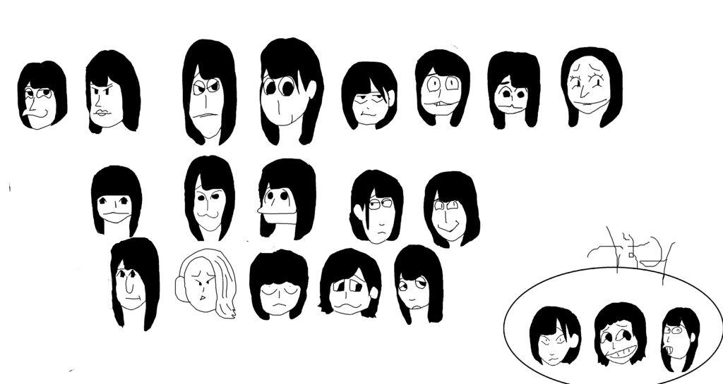 ギャハハwww欅坂46のメンバーのイラストをマウスで描いたぜwwフロント5人のww
