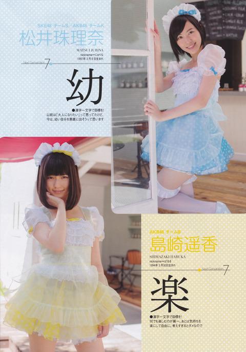 AKB48 SKE48 松井珠理奈 島崎遥香 ぱるる