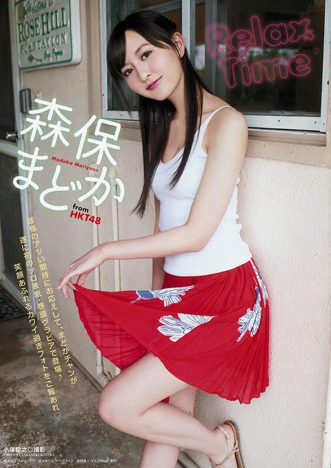 こんな顔だったっけ!?HKT48森保まどかちゃんの最新水着グラビア画像!