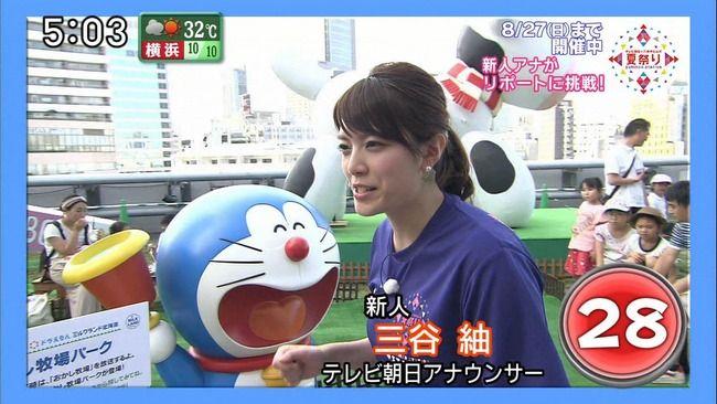 【画像】テレ朝新人アナ・三谷紬の巨乳がけしからんぞwww