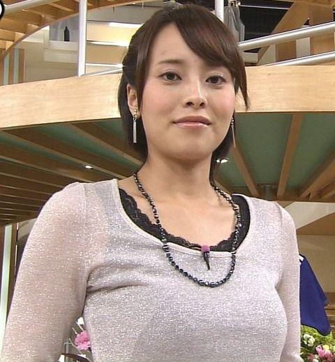 上田まりえアナの巨乳はEカップであることが判明