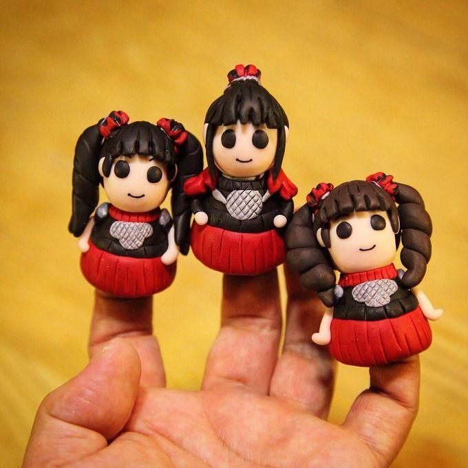 BABYMETAL「ファンアートのベビメタ指人形が可愛い」