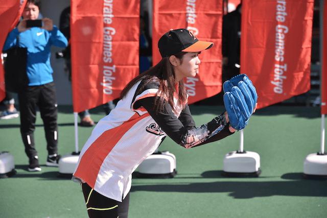 【エンタメ画像】「初めてだったので刺すさまじました」稲村亜美がノーバン始球式