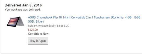 ASUS Chromebook Flip C100PA 来ました!
