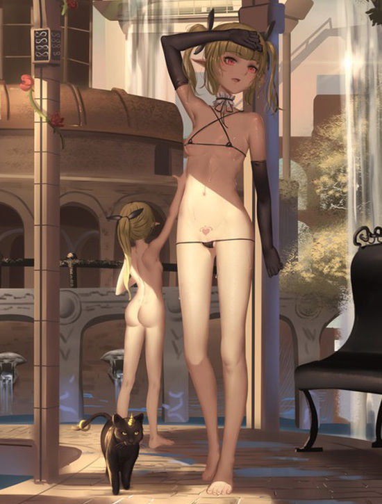 【激選103枚】ロリ美少女の綺麗すぎる裸足や美脚の二次画像【裸足・足裏フェチ】