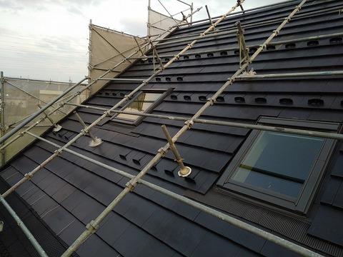 屋根工事完了1