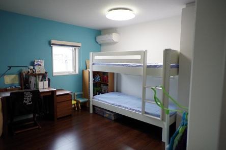 二段ベッド完成1