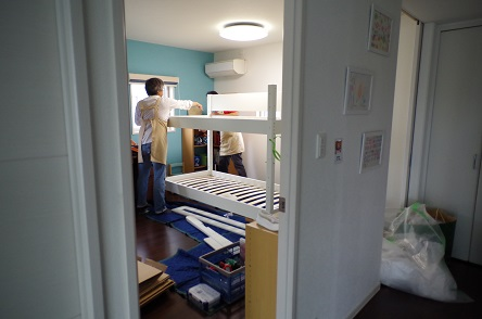 二段ベッド組み立て4