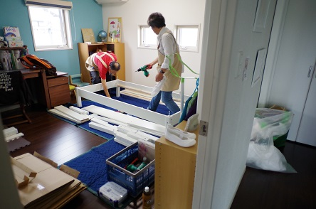 二段ベッド組み立て2