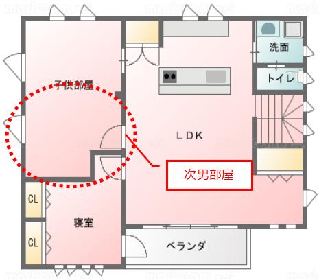 202101_個室化後子供部屋_次男8