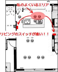 入居後考察_LDK照明配置7