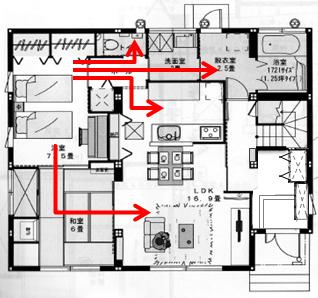 1階寝室間取り2