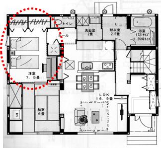 1階寝室間取り1