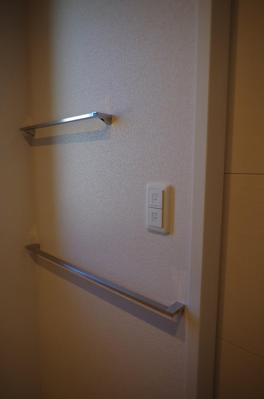 2階洗面所タオル掛け4