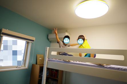 二段ベッド完成3