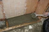 床タイル貼り6