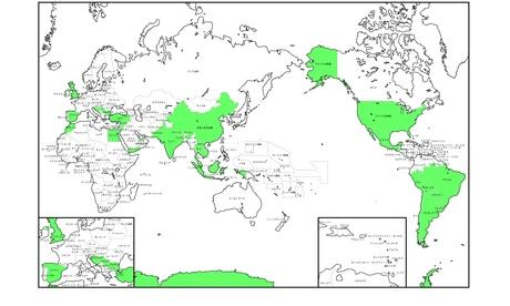 世界地図行ったとこ