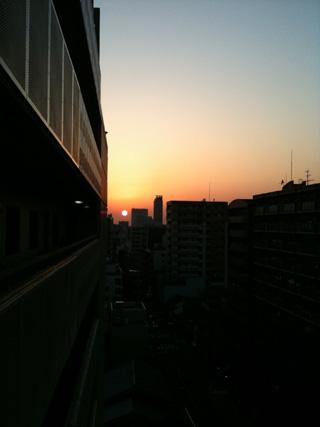 デザイン キッチンマット カーペット かわいい 夕日