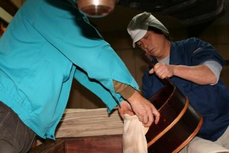 梨酒の搾り作業5