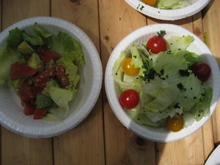 両社のサラダ