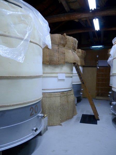 発酵中の紅芋酢