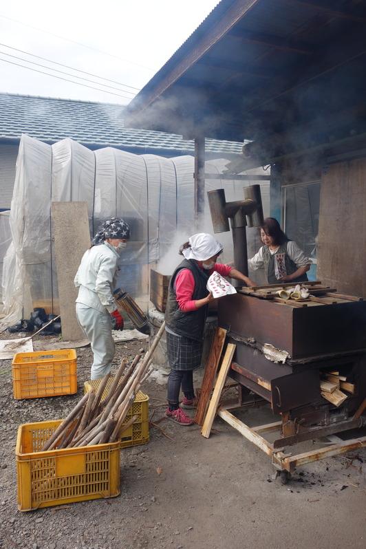 焼き芋作業