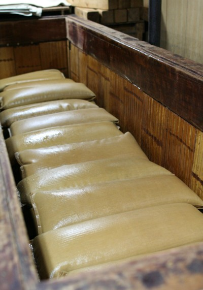 冨士玄米黒酢の搾り