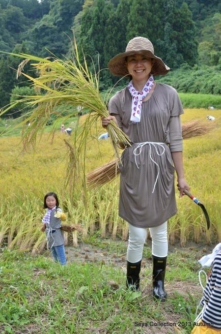 2013稲刈りファッションショー6
