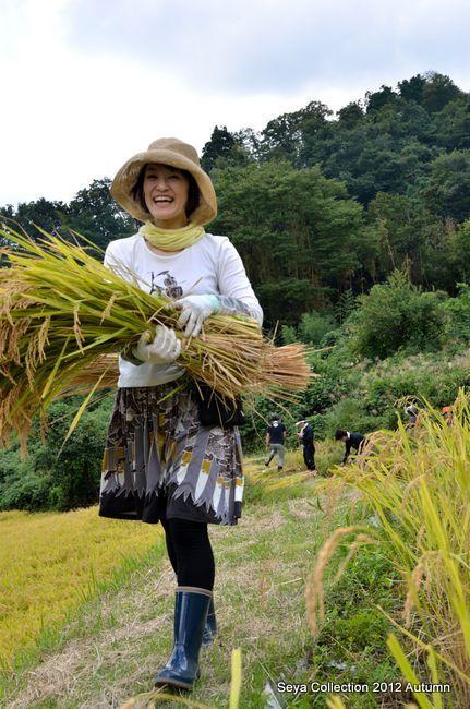 稲刈りファッションショー結果2