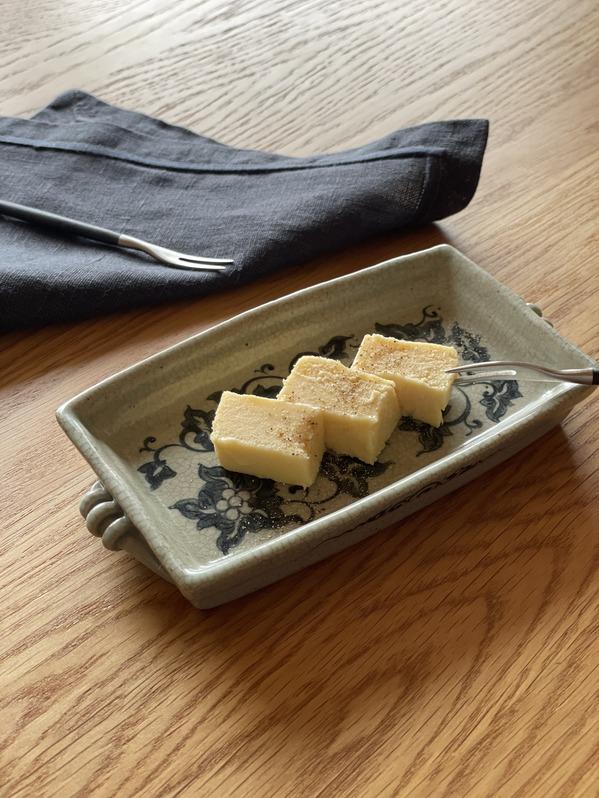 チョコレートテリーヌbianco(白)盛り付け