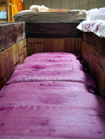 紅芋酒の搾り11