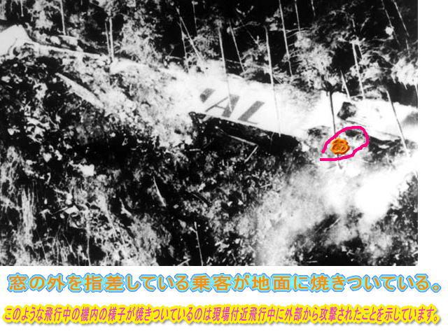 JAL 123 63 JAL123便は撃墜された。一体何故?SNKFメンバーは集めた物的証拠か.