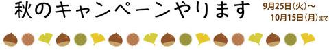 秋のキャンペーンブログ用