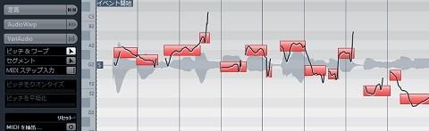 ボーカルの音程を表示