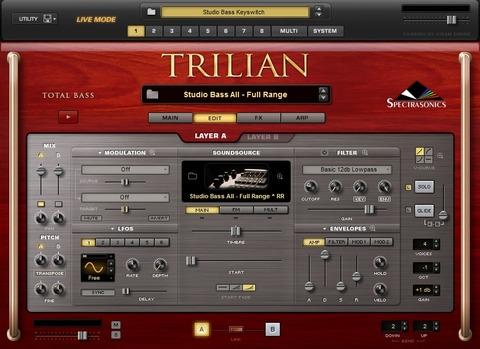 Trilian エディット画面