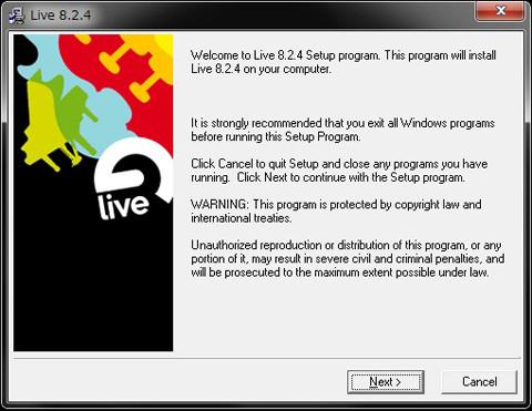 Live Lite 8インストール