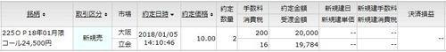 C24500 10円売り