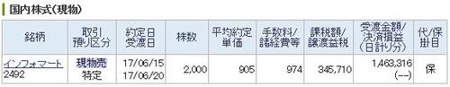 インフォマート2000株約定