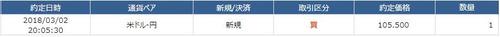 USD105.5円約定