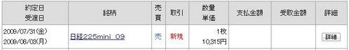 日経225ミニ 20090731