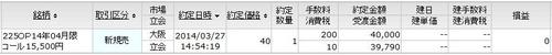 3月限C15500新規売り
