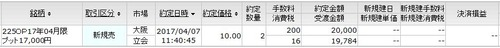 P17000新規売り
