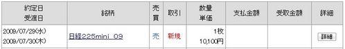 日経225ミニ 20090729