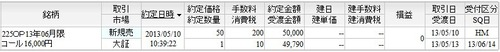6月限C16000新規売り