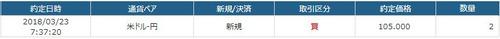 FX USD 105円2枚買い
