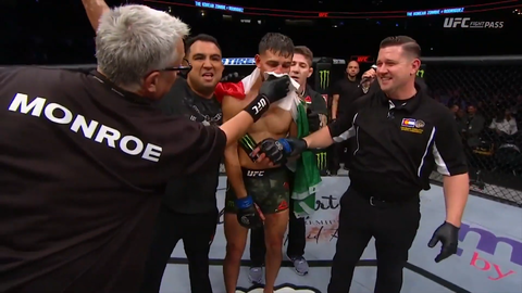 【UFC25周年記念大会】ヤイー・ロドリゲスがジョン・チャンソンを縦肘でKO