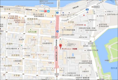 アンフィニィ天満橋 地図