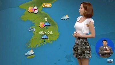 【衝撃】韓国のお天気お姉さんが性的すぎるんやけどwwwwww(※画像あり)